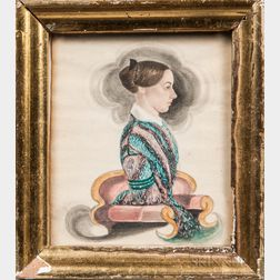 James Sanford Ellsworth (American, 1802/03-1874)      Portrait of Lucinda Wilson Bushnell