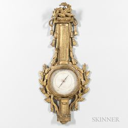 Louis XV-style Giltwood Barometer