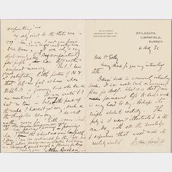 Rackham, Arthur (1867-1939) Autograph Letter Signed, 4 August 193?.