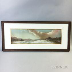 George Douglas Brewerton (California/Rhode Island, 1827-1901)       Winter Landscape