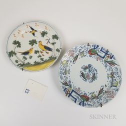 Two Polychrome Delft Chargers