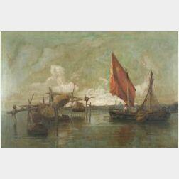 Walter Francis Brown (American, 1853-1929)  Fishing Boat, Venice