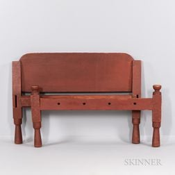 Red-painted Hired Man's Bed
