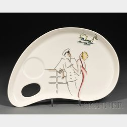 Clarice Cliff Cruiseware Pattern Dessert Plate