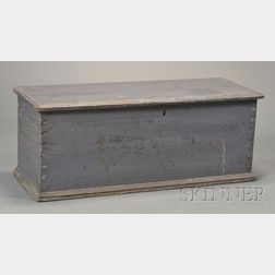 Child's Blue-painted Pine Six-board Chest