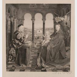 Léopold Flameng (French, 1831-1911), After Jan van Eyck (Flemish, c. 1380/90-1441)      La Vierge d'Autun