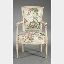 Louis XVI-style Diminutive Fauteuil