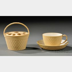 Two Wedgwood Caneware Items