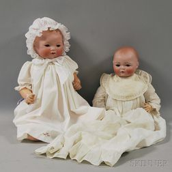 Large Kestner Century Doll and AM 351 Dream Baby