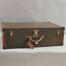 Antique Louis Vuitton Monogrammed Hard-case Bisten 50 Luggage