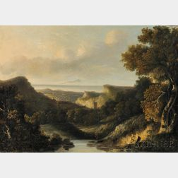 Attributed to John Crome, called Old Crome (British, 1768-1821)      The Ringland Hills, Norwich
