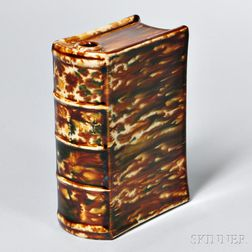Bennington Pottery Flint Enamel Book Flask
