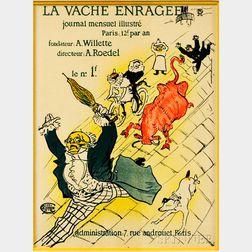 After Henri de Toulouse-Lautrec (French, 1864-1901)      La Vache Enragée