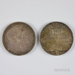 Two 1842 Bavarian 2 Thalers