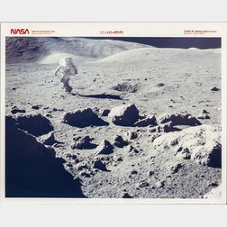 Apollo 17, Lunar Landscape, Panoramic View, Twelve Photographs.
