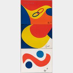 Alexander Calder (American, 1898-1976)      Five Plates