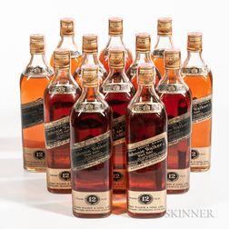 Johnnie Walker Black Label 12 Years Old, 12 750ml bottles (oc)
