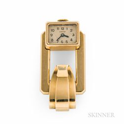 Cartier 18kt Gold Brooch or Lapel Watch
