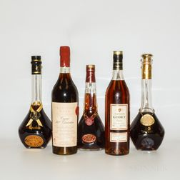 Mixed Cognac, 5 bottles (oc)
