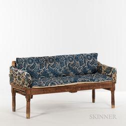Upholstered Maple Make-do Country Sofa
