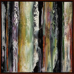 Three Framed Abstract Paintings