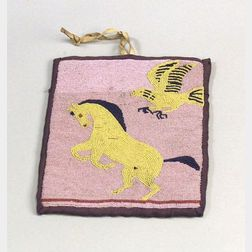 Plateau Pictorial Beaded Cloth Pouch