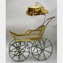 Wickerwork Doll's Carriage