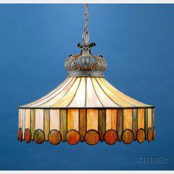 Attributed to John Morgan & Sons Large Hanging Lamp