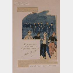 Théophile Alexandre Steinlen (Swiss/French, 1859-1923)      Number 103
