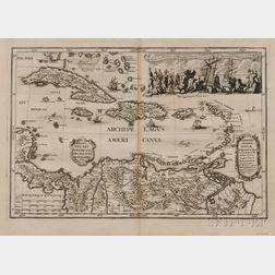 Caribbean Islands. Heinrich Scherer (1628-1704) Archipelagus Americanus