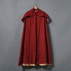 Shaker Burgundy Red Wool Cape