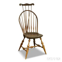 Wallace Nutting Braced Comb-back Windsor Side Chair