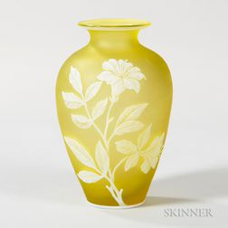 Thomas Webb & Sons Cameo Vase