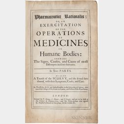 Willis, Thomas (1621-1675) Pharmaceutice Rationalis: or an Exercitation of the Operations of Medicines in Humane Bodies.