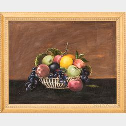 American School, 20th Century       Still Life with a Basket of Fruit