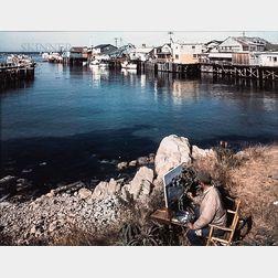 Ansel Adams (American, 1902-1984)      Artist Painting en Plein Air and Still Life