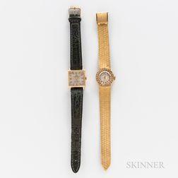 18kt Gold Tudor Wristwatch and a Marcel & Cie Wristwatch