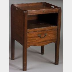 English Inlaid Mahogany Bedside Cupboard