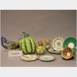Approximately Forty Pieces of Decorated Pottery and Porcelain