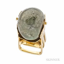 18kt Gold and Hardstone Bead Ring, Janiye