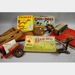 Group of Miscellaneous Toys and Lithographed Games