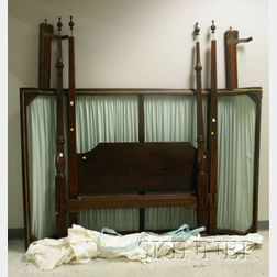 George II Carved Mahogany and Cherry Tall Post Canopy Bed