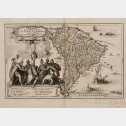 South America. Heinrich Scherer (1628-1704)   Religionis Catholicae Australi Americae Implantatae