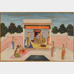 Painting of a Courtyard Scene