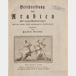 Niebuhr, Carsten (1733-1815) Beschreibung von Arabien