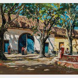 Anthony Thieme (American, 1888-1954)      Las Piletas, Antigua Guatemala