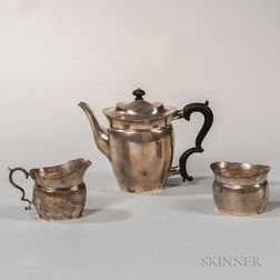 Three-piece William DeMatteo Sterling Silver Coffee Service