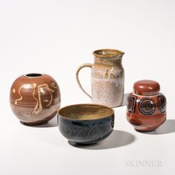 Four Gerry Williams Pottery Items