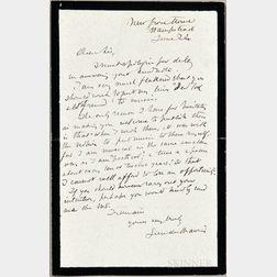 Du Maurier, George (1834-1896) Autograph Letter Signed, 24 June (no year).