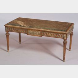 Louis XVI Style Marble-top and Gilt-metal Mounted Beechwood Low Table